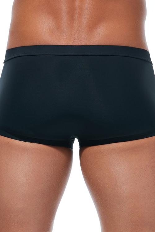 Gregg Homme Caliente Swim Boxer 170645-BL Black - Mens Swim Trunks - Rear View - Topdrawers Swimwear for Men