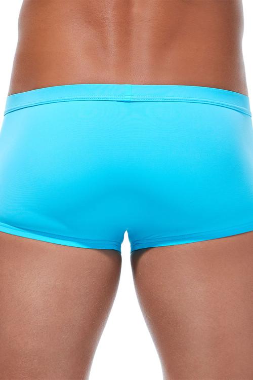 Gregg Homme Caliente Swim Boxer 170645-AQ Aqua - Mens Swim Trunks - Rear View - Topdrawers Swimwear for Men
