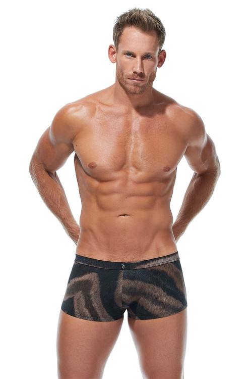 Gregg Homme Nordic Spa Swim Boxer 173345 - Mens Swim Trunks - Front View - Topdrawers Swimwear for Men