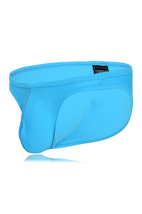Andrew Christian Ultra Micro Swim Bikini w/ Almost Naked 7737-Aqua - Mens Swim Bikini Briefs - Garment View - Topdrawers Swimwear for Men
