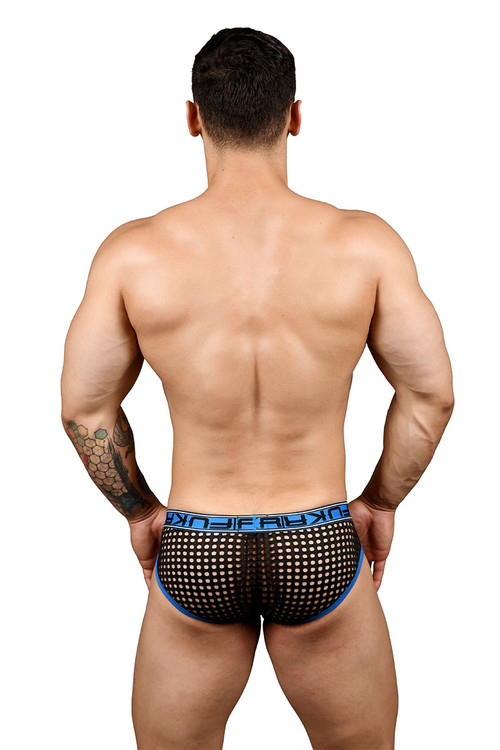 Andrew Christian FUKR Net Dom Brief 91363 - Mens Fetish Briefs - Rear View - Topdrawers Underwear for Men