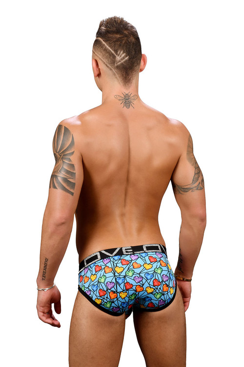 Andrew Christian Love Rainbow Gem Brief w/ Almost Naked 91355 - Mens Briefs - Rear View - Topdrawers Underwear for Men