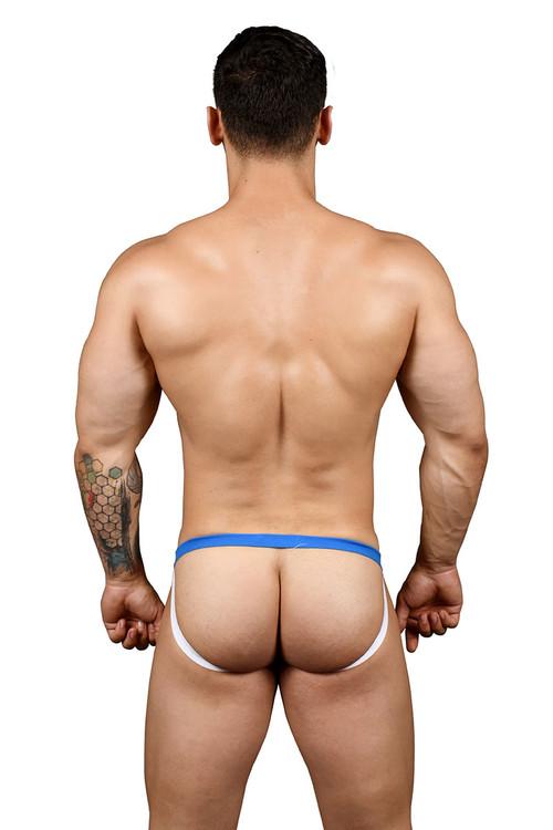 Andrew Christian Football Mesh Jock w/ Almost Naked 91385 - Mens Jockstraps - Rear View - Topdrawers Underwear for Men