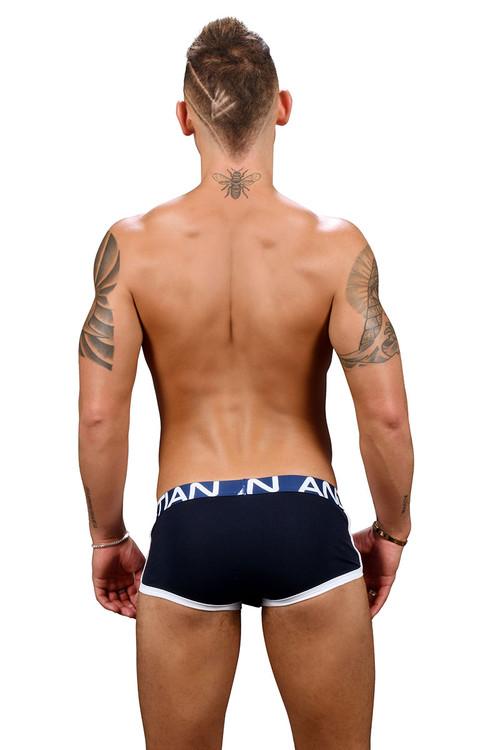 Andrew Christian Show-It Retro Pop Pocket Boxer 91348-NV Navy Blue - Mens Boxer Briefs - Rear View - Topdrawers Underwear for Men
