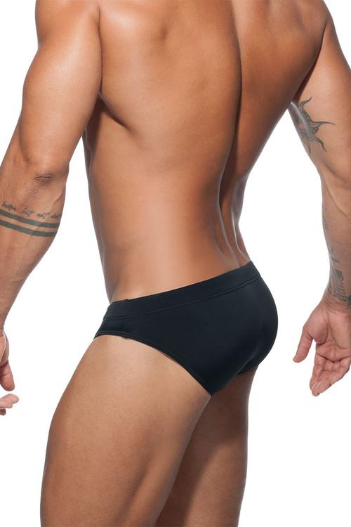 Addicted Basic AD Swim Brief ADS097-10 Black - Mens Swim Bikini Briefs - Rear View - Topdrawers Swimwear for Men