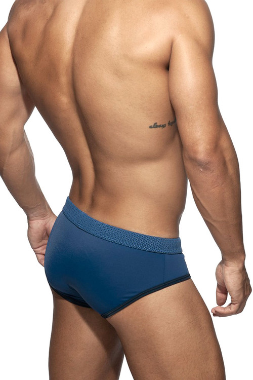 Addicted Waves Swim Brief ADS227 - Mens Swim Bikini Briefs - Front View - Topdrawers Swimwear for Men