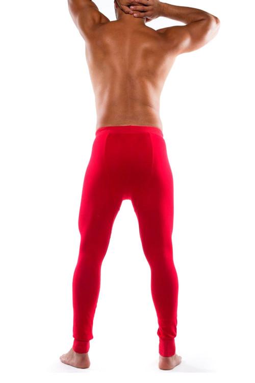 Go Softwear Lumber Jack Long Johns 4794-RD Red - Mens Long Underwear - Rear View - Topdrawers Underwear for Men