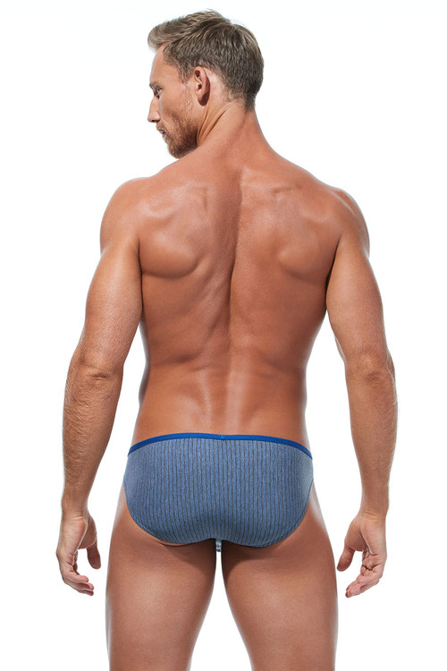 Gregg Homme Feel It Brief 172803-ROY Royal Blue - Mens Briefs - Rear View - Topdrawers Underwear for Men