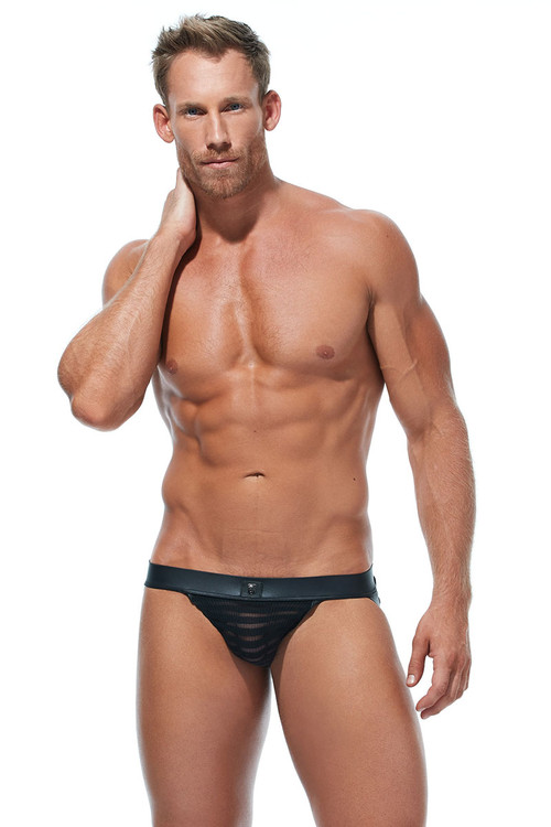 Gregg Homme Jailhouse Jock 173034 - Mens Jockstraps - Front View - Topdrawers Underwear for Men