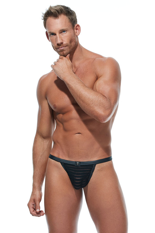 Gregg Homme Jailhouse Thong #2 173024 - Mens Fetish Thongs - Front View - Topdrawers Underwear for Men