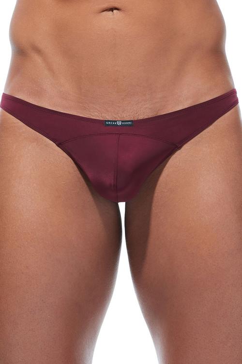 Gregg Homme Wonder Thong 96104-BUR Burgundy - Mens Thongs - Front View - Topdrawers Underwear for Men