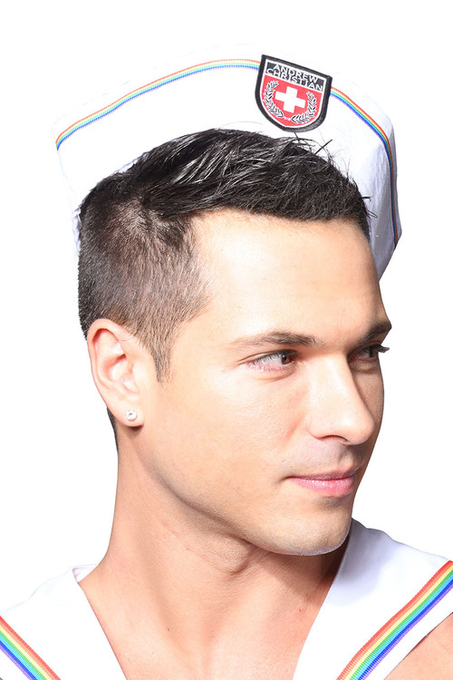 Andrew Christian Pride Sailor Hat 8466 - Mens Hats - Side View - Topdrawers Clothing for Men