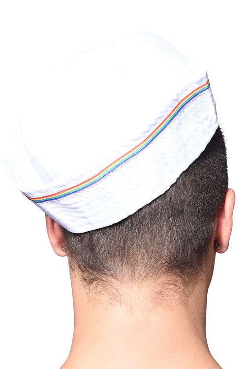 Andrew Christian Pride Sailor Hat 8466 - Mens Hats - Rear View - Topdrawers Clothing for Men