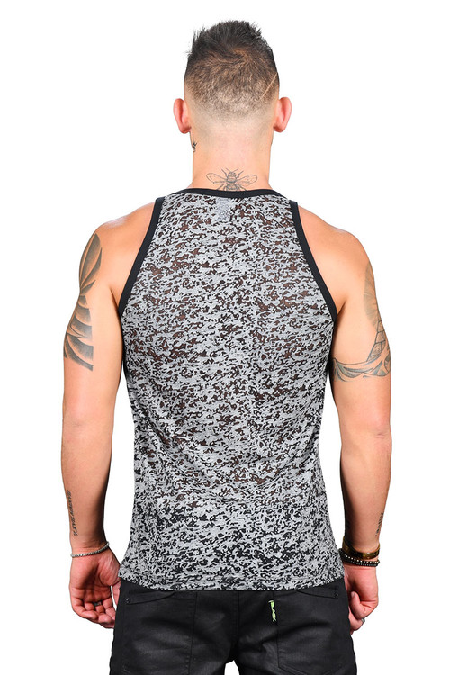 Andrew Christian Hardware D-Ring Burnout Tank 2760 - Mens Tank Tops - Rear View - Topdrawers Clothing for Men