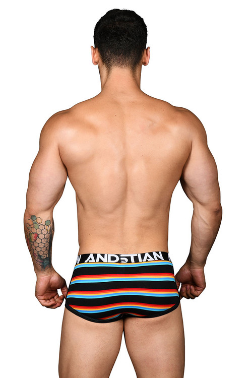 Andrew Christian California Stripe Boxer w/ Almost Naked 91427 - Mens Boxer Briefs - Rear View - Topdrawers Underwear for Men