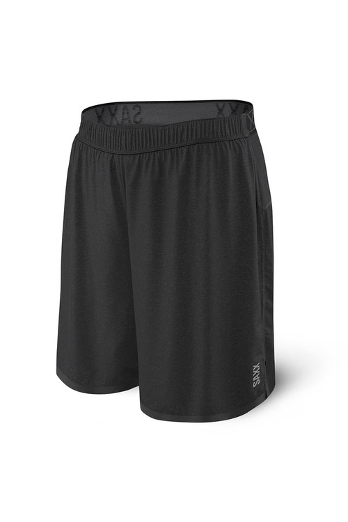 Saxx Pilot 2N1 Short | Black SXRU29-BLK - Mens Athletic Shorts - Front View - Topdrawers Clothing for Men