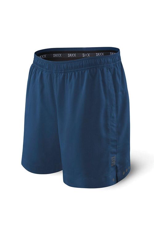 Saxx Kinetic Sport 2N1 Short | Velvet Blue Heather SXKS27-BSH - Mens Athletic Shorts - Front View - Topdrawers Clothing for Men