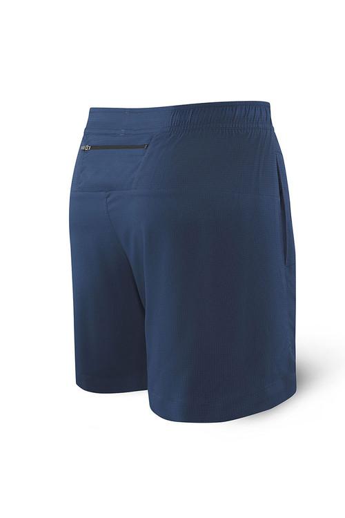 Saxx Kinetic Sport 2N1 Short | Velvet Blue Heather SXKS27-BSH - Mens Athletic Shorts - Rear View - Topdrawers Clothing for Men