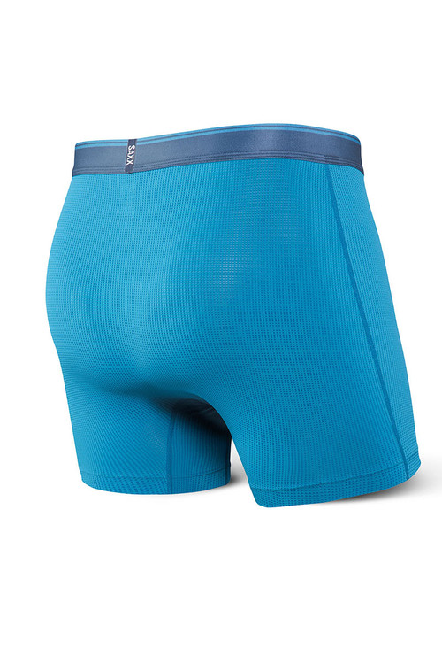 Saxx Quest Boxer Brief w/ Fly | Celestial Blue SXBB70F-CEL - Mens Boxer Briefs - Rear View - Topdrawers Underwear for Men
