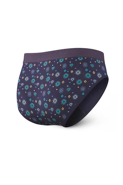 Saxx Ultra Brief w/ Fly   Purple Lite Skies SXBR30F-LSP - Mens Briefs - Rear View - Topdrawers Underwear for Men