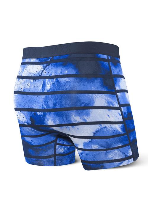 Saxx Vibe Boxer Brief | Navy Tie Dye Stripe SXBM35-TDN - Mens Boxer Briefs - Rear View - Topdrawers Underwear for Men