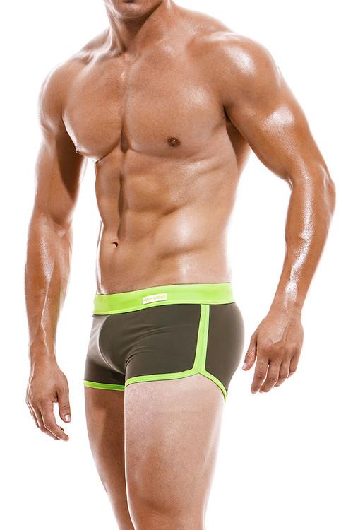 Modus Vivendi Mix & Match Jogging Cut Swim Boxer CS1921-KH Khaki -  Side View - Topdrawers Swimwear  for Men