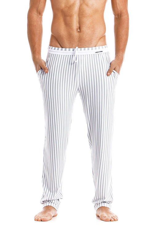 Modus Vivendi Tiger Loungepants 15861-WH White -  Front View - Topdrawers  for Men