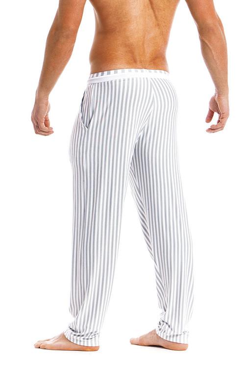 Modus Vivendi Tiger Loungepants 15861-WH White -  Rear View - Topdrawers  for Men