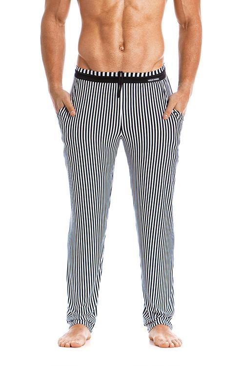 Modus Vivendi Tiger Loungepants 15861-BL Black -  Front View - Topdrawers  for Men