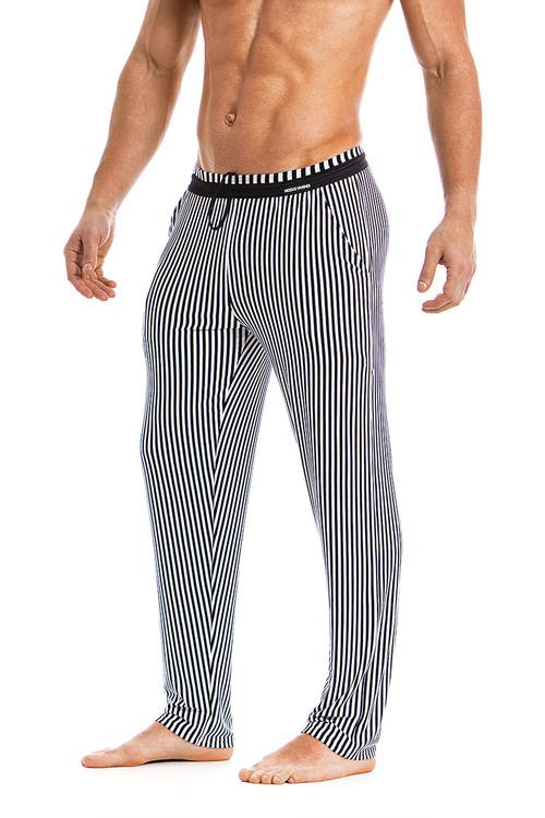 Modus Vivendi Tiger Loungepants 15861-BL Black -  Side View - Topdrawers  for Men