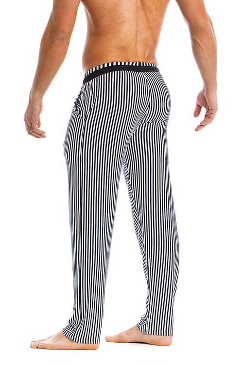 Modus Vivendi Tiger Loungepants 15861-BL Black -  Rear View - Topdrawers  for Men