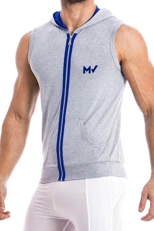 Modus Vivendi Otter Sleeveless Hoodie 11831-GR Grey -  Side View - Topdrawers  for Men