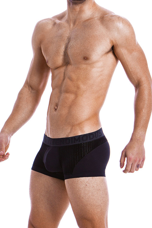 Modus Vivendi Wolf Boxer 18821-BL Black -  Side View - Topdrawers  for Men