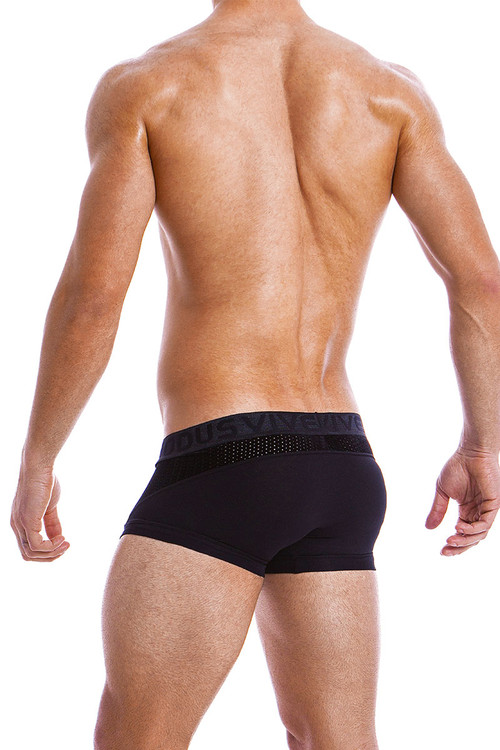 Modus Vivendi Wolf Boxer 18821-BL Black -  Rear View - Topdrawers  for Men