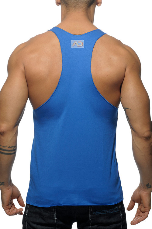Addicted Back Logo Tank Top AD340-16 Royal Blue - Mens Tank Tops - Rear View - Topdrawers Clothing for Men