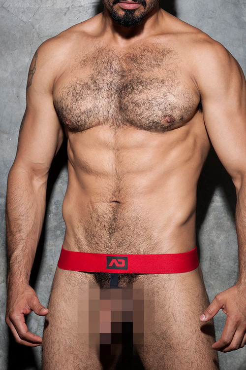 Addicted Fetish Cockring Band ADF58-06 Red - Mens Accessories - Front View - Topdrawers Fetish Wear for Men