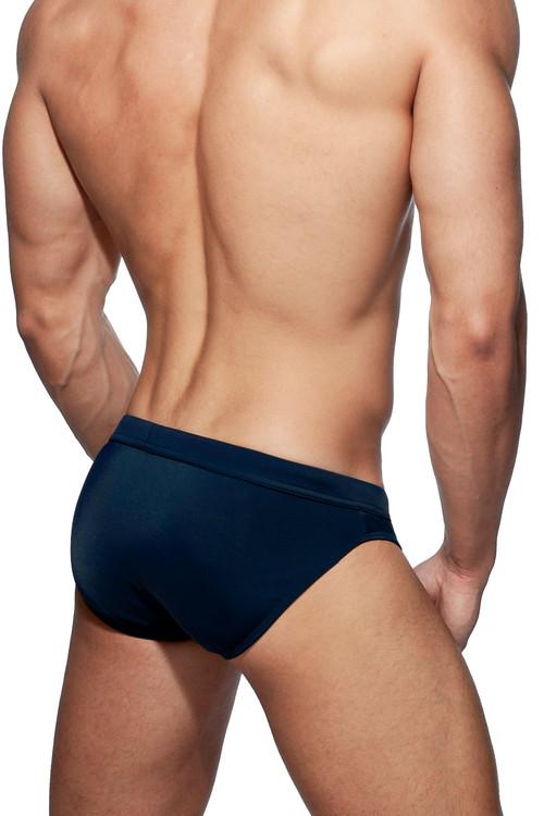 Addicted Dick Up Swim Brief ADS237-09 Navy Blue - Mens Swim Bikini Briefs - Rear View - Topdrawers Swimwear for Men
