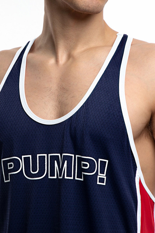 PUMP! Academy Deep Tank 14016 - Mens Tank Tops - Front View - Topdrawers Clothing for Men