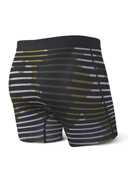 Saxx Ultra Boxer Brief w/ Fly | Green Fragment Stripe SXBB30F-GFS - Mens Boxer Briefs - Rear View - Topdrawers Underwear for Men
