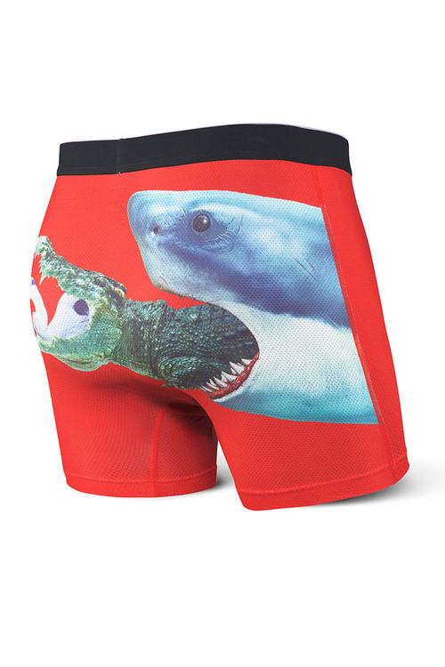 Saxx Volt Boxer Brief | Food Chain SXBB29-FCH - Mens Boxer Briefs - Rear View - Topdrawers Underwear for Men