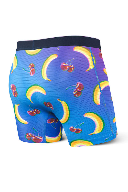 Saxx Volt Boxer Brief | Banana Split SXBB29-SPB - Mens Boxer Briefs - Rear View - Topdrawers Underwear for Men
