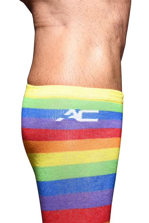 Andrew Christian Pride Stripe Socks 8460 - Mens Socks - Detail View - Topdrawers Underwear for Men