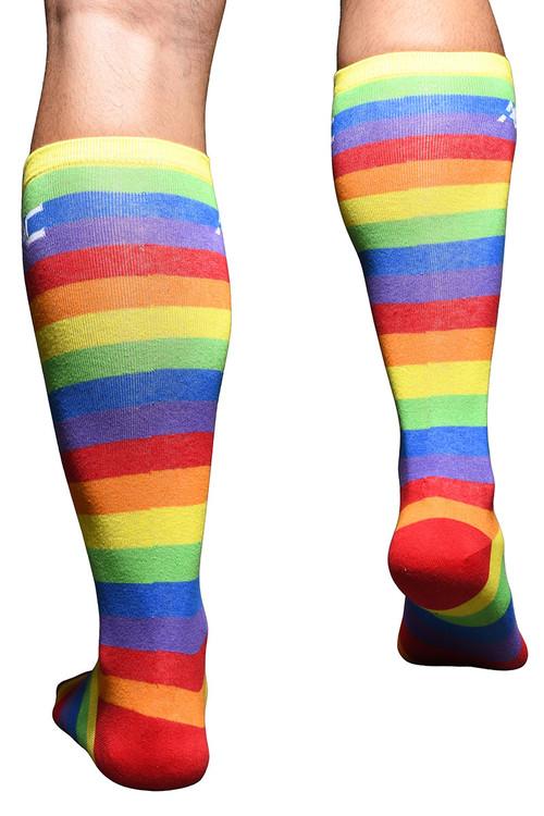 Andrew Christian Pride Stripe Socks 8460 - Mens Socks - Rear View - Topdrawers Underwear for Men
