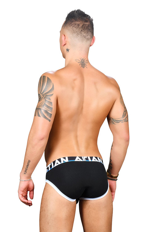 Andrew Christian Almost Naked Cotton Brief 91434-BL Black - Mens Briefs - Rear View - Topdrawers Underwear for Men