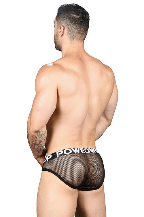 Andrew Christian Power Top Mesh Brief w/ Almost Naked 91456 - Mens Briefs - Rear View - Topdrawers Underwear for Men