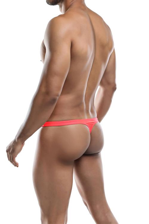 Joe Snyder Poly Bulge Thong JSBUL-02-WML Watermelon - Mens Thongs - Rear View - Topdrawers Underwear for Men