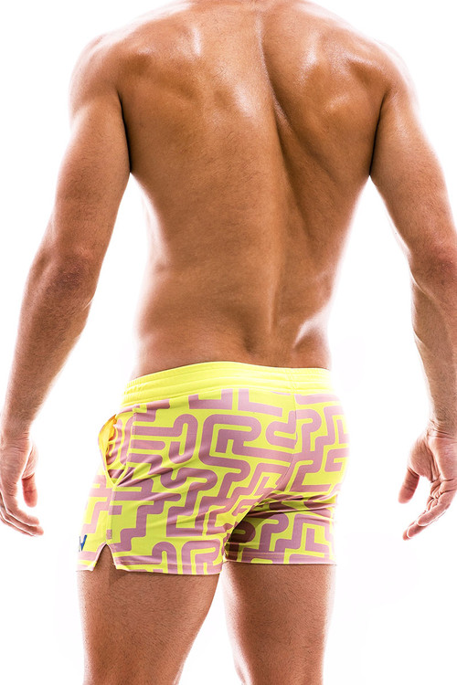Modus Vivendi Labyrinth Swim Short CS2031-DUPK Dusty Pink - Mens Swim Shorts Swimsuits - Rear View - Topdrawers Swimwear for Men