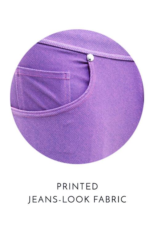 Modus Vivendi Jeans Swim Brief FS2012-FUS Fuchsia - Mens Bikini Swimsuits - Fabric View - Topdrawers Swimwear for Men