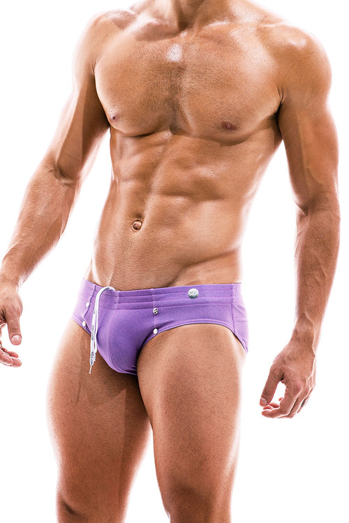 Modus Vivendi Jeans Swim Brief FS2012-FUS Fuchsia - Mens Bikini Swimsuits - Side View - Topdrawers Swimwear for Men