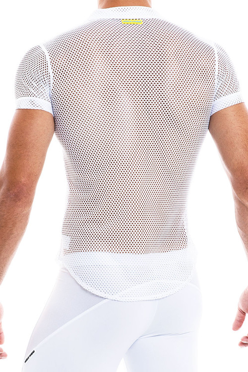 Modus Vivendi Camouflage Shirt 02042-WH White - Mens Shirts - Rear View - Topdrawers Clothing for Men